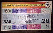 1982 Copa del Mundo semi-final billete: - Italia v Polonia (matriz & Filigrana) #49