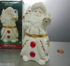"NEW International Bazaar SANTA Tree Bell TRINKET BOX 5.5"" Figurine Cake Topper!"