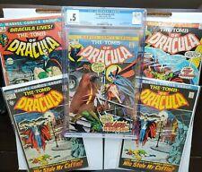 Tomb Of Dracula Lot #1, #2, #10 CGC 0.5, #12 🗝💥1st & 2nd App of Dracula, Blade
