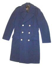 VTG 40's 1949 Korea WWII USAF Air Force Pea Coat Overcoat Wool Blue Military 35L