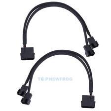 2x PWM Kabel 4 PIN IDE Molex zu 2x 3 / 4Pin Adapter Lüfter Verteiler Splitter