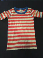 Hanna Andersson White Orange Striped Short Sleeve Cotton T Shirt Size 130 8