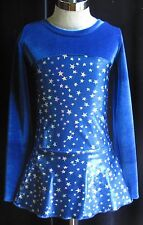 Royal Blue Competition Ice Figure Skating Dress / Girls SMALL 7 / 8