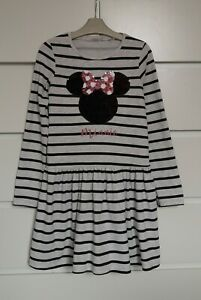H&M___MINNIE MOUSE long sleeve dress girl age 8-10 yrs VGC
