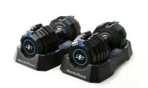 NordicTrack 55lb Adjustable Dumbbell Pair Speed Weights 110lb Total*