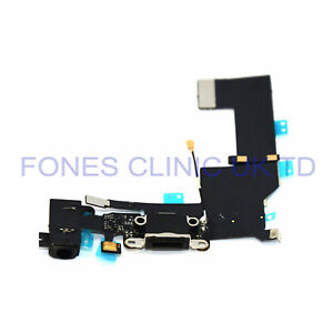 For iPhone 5S Charging Port & Audio Flex Cable Black