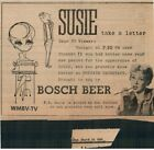 """1956 Ann Sothern """"Susie Take a Letter"""" Bosch Beer TV print clipped ad 6x4.5"""""""