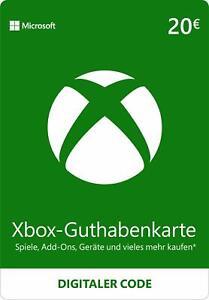 Xbox Live 20 EUR Guthaben Karte - Xbox digitaler Code MS Xbox 360 & One 10€ - EU