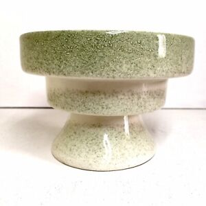 Fabulous Green Splatter Mid Century Ceramic Candle Stick Stepped Candle Holder