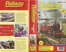 Railway Video Magazine november 1993 - Rare Archive Transport Railway Film VHS
