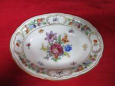 New listing Schumann Empress Dresden Flowers Oval Serving Bowl