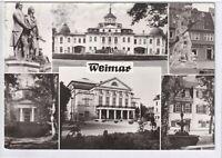 Ansichtskarte Weimar -Belvedere/Denkmal/Markt/Gruft/Nationaltheater/Schillerhaus