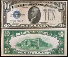 Reproduction USA RARE $10 Bill 1933 Silver Certificate Copy USA Currency