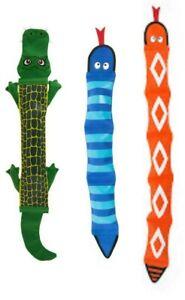 "Top Paw® Tuff Firehose, SET OF (3) Gator, Orange & Blue Snake XL 24""-36"" Dog Toy"