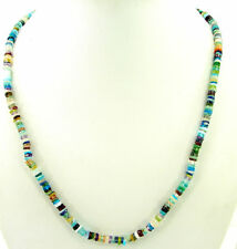 65 Ct Natural Multi Gemstone Tyre Heishi Rondelle Beads Necklace String - B156
