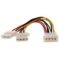 2X(Computer Molex 4 Pin Power Supply Y Splitter Cable J6Z2)