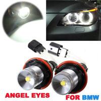 2x LED MARKER ANGEL EYES RINGE STANDLICHT LAMPE 5W WEISS BMW E39 E60 E63 E65 E87