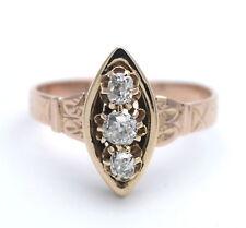 ANTIK UM 1890: RING 0,50 CT DIAMANT IN 750 / 18 KT GOLD MUSEALE HANDARBEIT