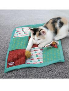 KONG Cat Puzzlements Pockets Play Mat Kitten Interactive Boredom Buster Catnip