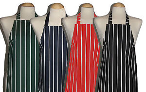 3 - 5 yrs child / kids butcher stripe apron PVC and Cotton All made in UK