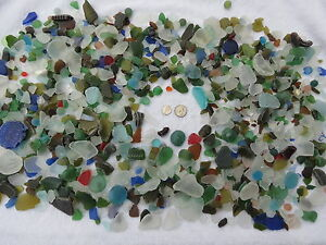 10 POUNDS MACHINE MADE RECYCLED TUMBLED BEACH SEA GLASS 1/2 - 3 INCH DECORATION