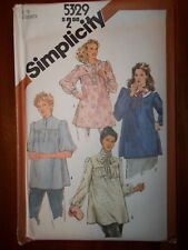 Simplicity 1981 Size 12 Women's Maternity Tops 5329 New Uncut