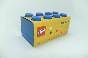 LEGO MINI 8 STORAGE BOX FOR SMALL SNACKS - 9 COLOURS FREE P&P CHECK SIZE PLEASE