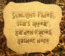 "Fairy mold Plaster Concrete garden plaque plastic mold  11.5"" x 10 & 1/4"" x 3/4"""