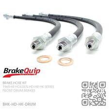 BRAKEQUIP FRONT DRUM BRAKE HOSE KIT [HOLDEN HD-HR-HK SPECIAL/PREMIER/KINGSWOOD]