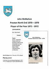 JOHN McMAHON PRESTON NORTH END 1970-1979 ORIGINAL HAND SIGNED PICTURE CUTTING