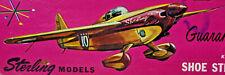 "18"" SHOE STRING RACER Profile Scale Balsa Wood Model Airplane Kit Sterling R2-69"