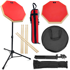 Pbc Products Practice Pad Kit and Snare Stand Set, Portable Drum Pad and More