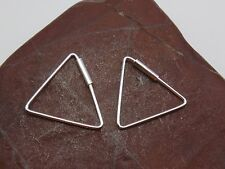 'QQice' 925 Sterling Silver-Simple Triangle 15mm-Hoop Earrings