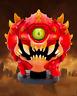 "Doom Eternal Cacodemon Mini Figure & Sticker Official 3"" Demon Statue Figurine"