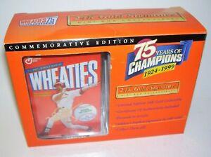 1999 Wheaties 75 Years of Champions Mark McGuire 24 K Gold Signature