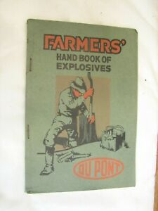 1920 Farmers Hand Book of Explosives Dupont Rancher Dynamite Tool Farm