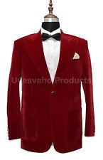 Men Red Smoking Jackets Coat Elegant Luxury Stylish Designer Party Wear Blazer