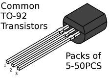 Common general purpose TO-92 transistors 2Nxxxx BCxxx 2SCxxxx / etc