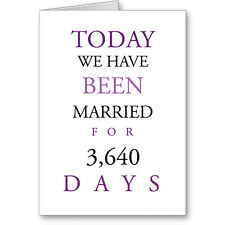 """Typographic Personalised """"Been Married"""" Anniversay Card Next Day Post"""