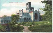 Postcard Kirkstall Abbey Leeds West Yorkshire pre 1945