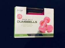 2 x 1.5KG Dumbbells Women's Weights Fitness Strength Muscle Toning Training Pink