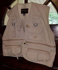 New listing Rio Bravo Mens Outdoor photography Khaki Fishing Multipocket Vest Sz Large cb6