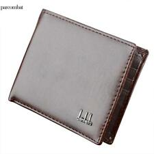 Men's Leather Business Wallet Pocket Card Clutch Bifold Money Slim Purse Black@ Black