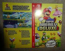 Nintendo Switch Mario Bros Deluxe promo Sleeve no game shop display coming soon