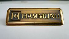 Hammond logo Metal Emblem from Vintage Hammond Organ