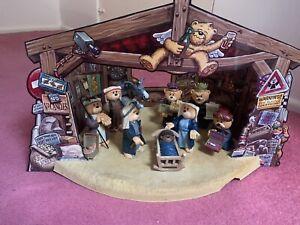 Bad Taste Bears Christmas Nativity Set Extremely Rare