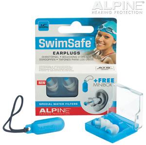 ALPINE SWINSAFE Premium Swimming EARPLUGS REUSABLE
