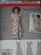 Dress with Amazing Fit Simplicity 2247 Women's size 20w-28w Sewing Pattern