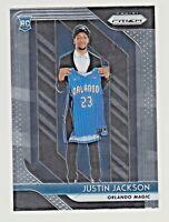 2018-19 Panini Prizm #119 JUSTIN JACKSON RC Rookie Orlando Magic QTY AVAILABLE