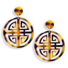 New Acrylic Tortoise Shell Earrings Pierced Dangle Drop Earrings Classic Style